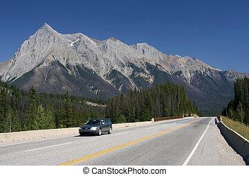 montagne rocciose, in, canada