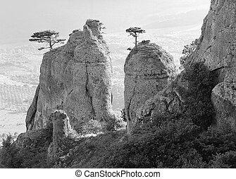 montagne., roccioso