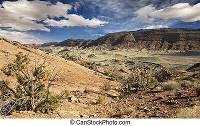 montagne, roccioso, nazionale,  Utah, parco, archi