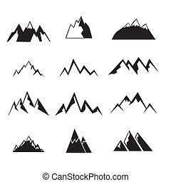 montagne, set., icônes
