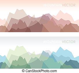 montagne, set, seamless