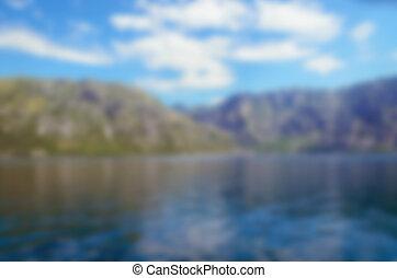 montagne, sfocato, fondo., mare, natura