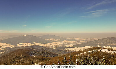 montagne, smog