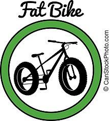 montagne, sport, vélo, graisse, vélo