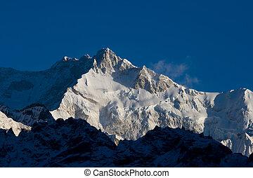 montagne, tibet., nevoso