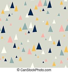 montagne, triangolo, modello, seamless, vettore, alzavola