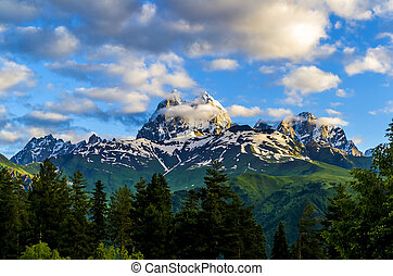 montagne, ushba