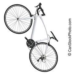 montagne, vélo, vélo, isolé