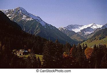montagne, valle, nevoso