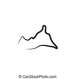 montagne, vecteur, conception, gabarit, logo