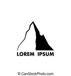 montagne, vecteur, icône