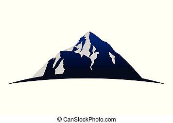 montagne, vecteur, logo, dsign