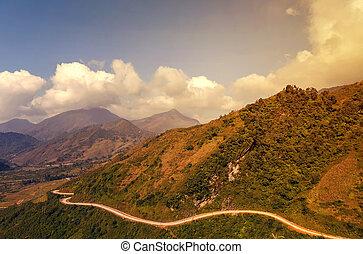 montagne, vietnam, sapa