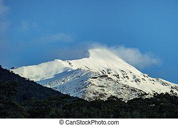 montagne, zelaand, aspirer, southland, parc national, neige,...