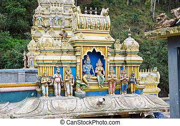 montagnes, 2011., 8., 8, lanka, décembre, sri, décoration, externe, hindou, lanka, temple