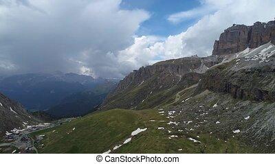 montagnes, aérien, paysage, vue