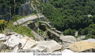 montagnes, balkanique, ruines, ancien