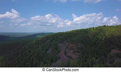 montagnes bleues, arête, nantahala, forêt nationale, nord, ...