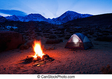 montagnes, camping