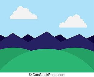montagnes, collines