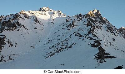 montagnes, hiver