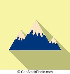 montagnes, hiver, neige