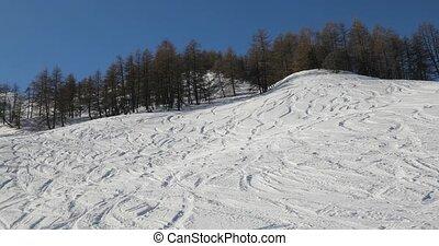 montagnes, hiver, ski, neigeux, paysage, élevé, pentes