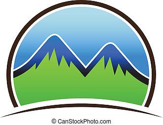 montagnes, icône