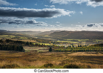 montagnes, kinross, |, coeur, pitlochry, forêts, perth, ...