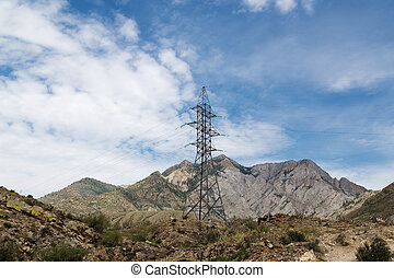 montagnes, lignes, puissance