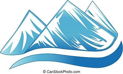 montagnes, logo