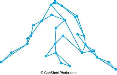 montagnes, logo, pic