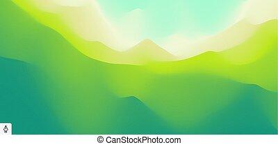 montagnes., montagneux, vecteur, résumé, terrain.,...