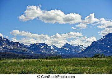 montagnes, montana, rocheux