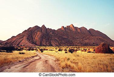 montagnes, namibie