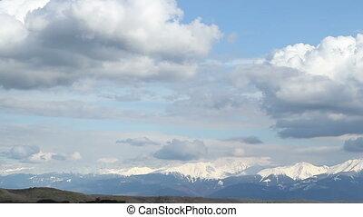 montagnes, neigeux, distance