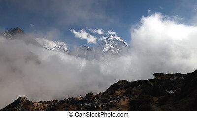 montagnes, nepa, himalaya