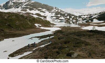 montagnes, norvège, randonnée