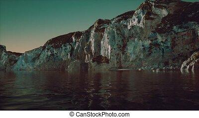 montagnes, norvège, rochers, fjord