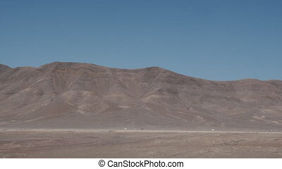 montagnes., paysage, lanzarote, scène, aride