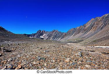 montagnes, pierre, désert, sibérie, oriental