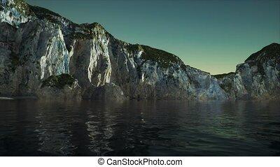 montagnes, rochers, fjord, norvège