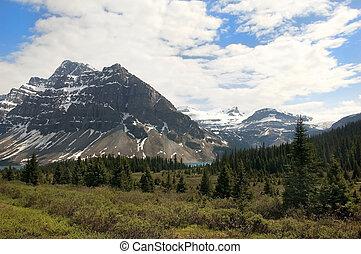 montagnes, rocheux, canadien