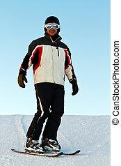 montagnes, skieur