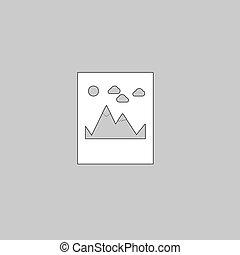 montagnes, symbole, informatique