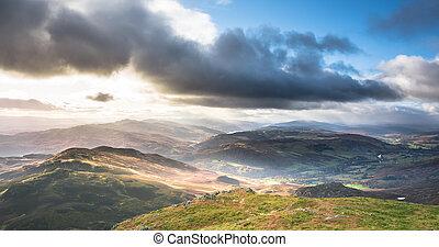 montagnes, tummel, rannoch, kinross, perth, loch, ecosse
