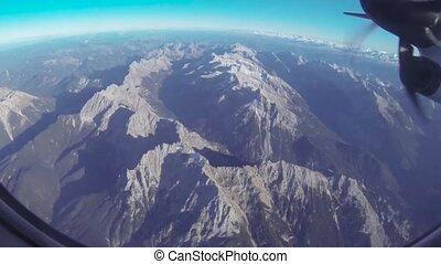 montagnes, vue aérienne
