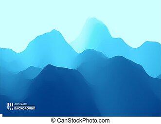 montagneux, arrière-plan., montagne, vecteur, résumé,...