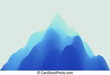 montagneux, paysage., résumé, illustration., arrière-plan.,...