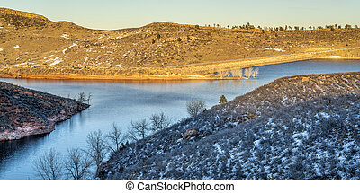 montain lake at Colorado foothills